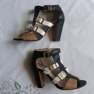 Vince Camuto leather strappy block heels Size 6/36
